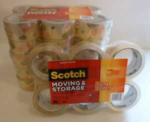 Case Scotch Long Lasting Storage Packaging Tape 1 88 Inch X 54 6 Yards 36 Rolls