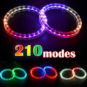 210 Modes Angel Eyes Multi color Rgb Led Halo Rings Light With Remote Control