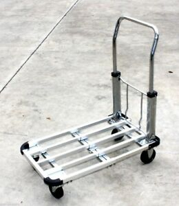 Extendable Collapsible Aluminum Platform Hand Cart Truck Dolly Sturdy 220lbs