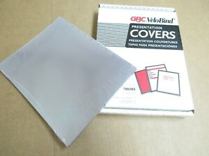 100 Clear Gbc Velobind Presentation Covers 11 X 8 1 2 For 11 Hole Spines