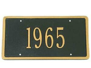 Corvette Custom License Plate With Gold Numbers Choose Car Year