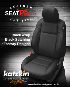 Katzkin Leather Seat Covers 16 2020 Toyota Tacoma Double Cab Black Factory Match