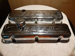 Moroso Steel Chrome Valve Covers With Breather Big Block Chevy Pre owned