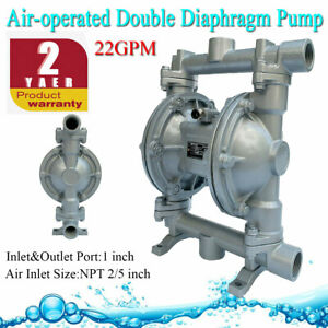 22gpm Air operated Double Diaphragm Pump 1 Inlet outlet For Industrail Use Us