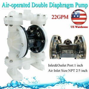 Air operated Double Diaphragm Pump 22gpm 1 Inlet outlet For Industrail Use Usa