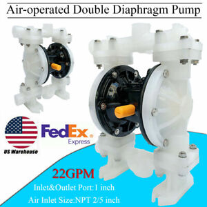 1 Inlet outlet Air operated Double Diaphragm Pump 22 Gpm 100psi Industrial Use