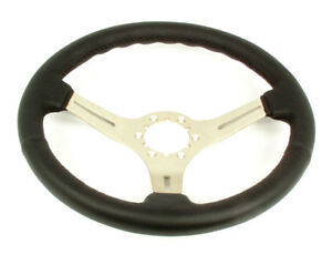 1969 1982 Corvette Steering Wheel Black Leather Steering Brushed 3 Spoke