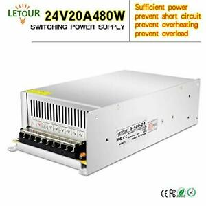 Letour Led Power Supply 24v 20a 480w Ac 96v 240v Converter 24v 20a 480w