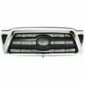 New Grille Black W Chrome Surround Front For Toyota Tacoma 2005 2010 To1200268