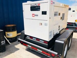 Airman Sdg65s 65kva Portable Trailer Mounted Generator Used Low Hours