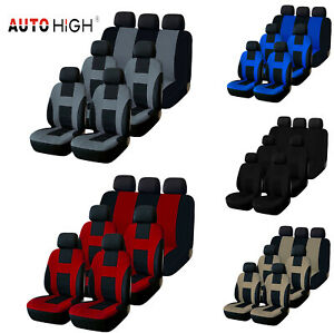 3 Row Seat Cover Full Set For Auto Suv For Car Sedan Suv Van Bench 5 Color