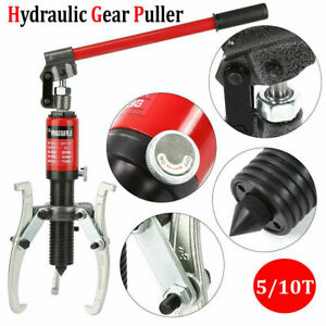 3in1 Hydraulic Gear Puller Pump Oil Tube 3 Jaw Drawing Machine 5t 10t Opt