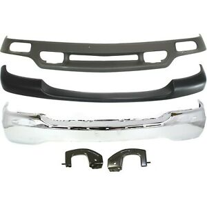 Bumper For 1999 2002 Gmc Sierra 1500 Front Bumper Trim Valance Set Of 3