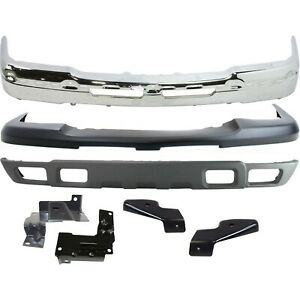 New Chrome Steel Front Bumper Kit For 2003 2007 Chevy Silverado 2500hd 3500