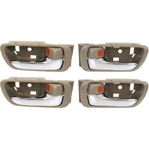 Interior Door Handle For 2002 2006 Toyota Camry Set Of 2 Front And Rear Chrome