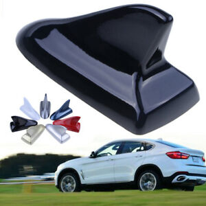 1pcs Auto Car Shark Fin Universal Roof Antenna Decorate Dummy Aerial Cover Black