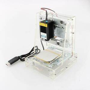 3000mw Desktop Diy Mini Mark Cnc Engraver Cutter Printer Laser Engraving Machine