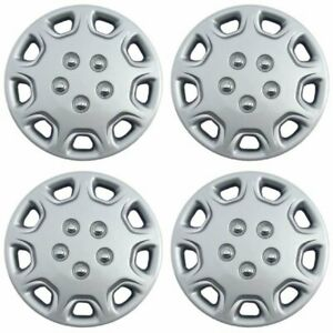 Hubcaps Fits 97 00 Hyundai Elantra 14 Inch Silver Replacement Wheel Cover Rim