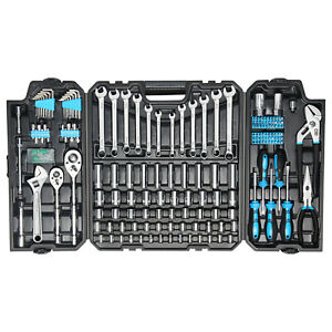 228 piece Mechanics Tool Set Mixed Socket Wrench Auto Repair Tool Kit With Box