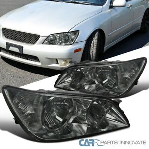 For 01 05 Lexus Is300 Headlights Replacement Head Lamps Smoke Set Left Right