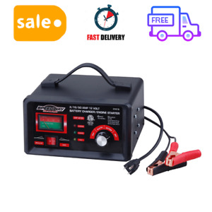 2 10 50 Amp 12 Volt Battery Charger Engine Starter Tester Booster Tool Supplies