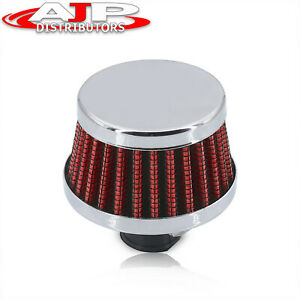 12mm Valve Dry Cone Style Turbo Vent Air Intake Crankcase Breather Filter Red