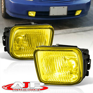 Amber Driving Bumper Fog Lights Lamps Wiring Switch For 1996 1998 Honda Civic