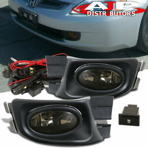 Smoke Driving Bumper Fog Lights Lamps Switch For 2003 2005 Honda Accord 4dr