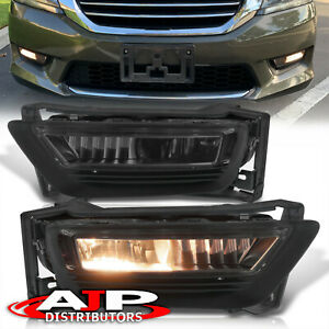 Smoked Driving Bumper Fog Lights Lamps Switch For 2013 2015 Honda Accord 4dr