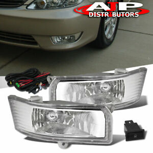 Front Driving Fog Lights Lamps Kit Clear Wiring For 2005 2006 Toyota Camry