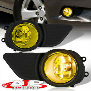Front Driving Fog Lights Lamps Yellow wiring Harness For 2011 2017 Toyota Sienna