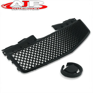 Black Sport Crossweave Mesh Bumper Hood Grill Grille For 2003 2007 Cadillac Cts