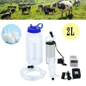 Portable Electric Milking Machine Vacuum Pump For Farm Cow Sheep Goat Milking
