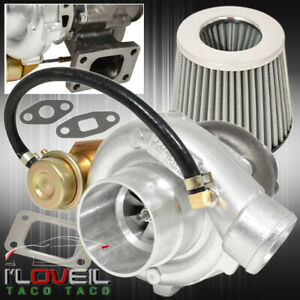 T3 T4 Turbo Charger Turbine Vband Flange Internal Wastegate Air Filter Silver