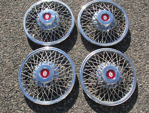 1983 1984 Olds Cutlass Ciera Factory 14 Inch Wire Spoke Hubcaps Wheel Covers