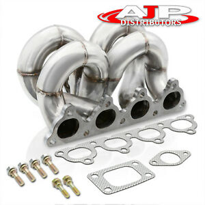 For 1988 1991 Honda Crx Stainless Steel Performance Racing T3 t4 Turbo Manifold