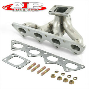 T3 T4 T04e Turbo Manifold Header Kit For 1989 1999 Eclipse Eagle Talon 1g 2g Dsm