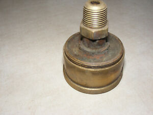 Antique Large Brass Grease Cup Oil Hit Miss Tractor Engine Motor 1 2 Inch Pipe