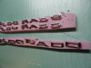 Cadillac 1960 Eldorado Fender Letters With Trunk Letters