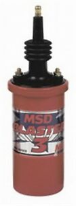Msd 8223 Red Blaster 3 45 000 Volt Ignition Coil Oil Filled Canister Each
