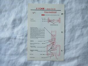Case 770 870 Tractor Lubrication Guide Chart