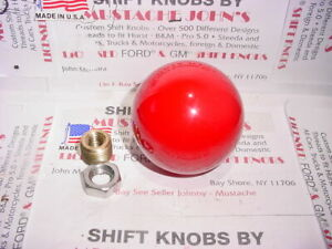Vintage Style Shift Knob U s Made dark Red