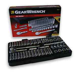 Gearwrench 3 8 Drive Socket Set metric sae Standard Shallow Deep Kdt80550