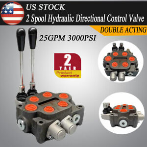 2spool Hydraulic Control Valve Double Acting 25gpm double Acting Cylinder Spool
