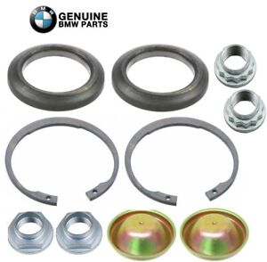 Genuine Front Wheel Hub Nuts Dust Shields Rear Nuts Snap Rings For Bmw E85
