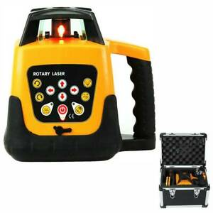 Auto Electronic Self leveling Rotary Rotating Red Laser Level Kit 500m Tool