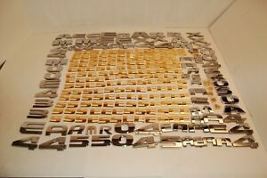 Lot Of 245 Automotive Letters Numbers Dodge Ford Chevrolet Toyota Oem Used