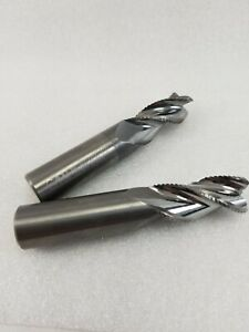 2 Pcs Garr Tool 3 4x4x1 5 8 Arc 3fl Hog Mill 056