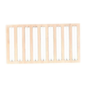 Bamboo Wooden Ring Display Stand Stud Earring Box Jewelry Display Tray White