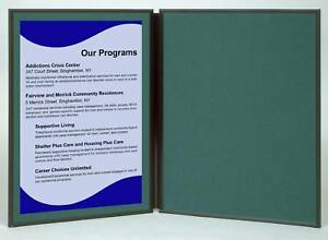 Folding 2 Panel 27 5 X18 Green Tabletop Display For Use With Velcro Hook Tape